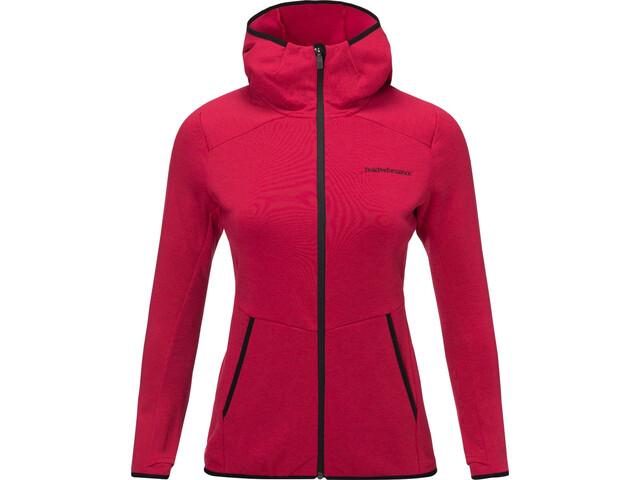 Peak Performance Helo Mid Hood Jacket Damen true pink